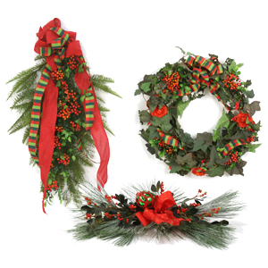 Holiday Wreaths, Swags, & Garlands