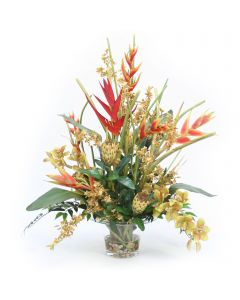 Tropical Mix in Large Rim Vase