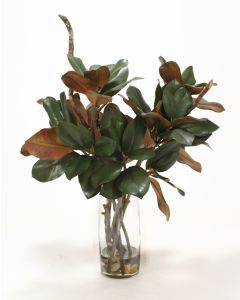Waterlook® Magnolia Foliage and Branches in Glass Cylinder