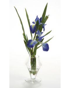 Waterlook® Blue Iris in Glass Urn