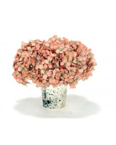 Waterlook® Pink Hydrangeas in Mercury Glass Vase