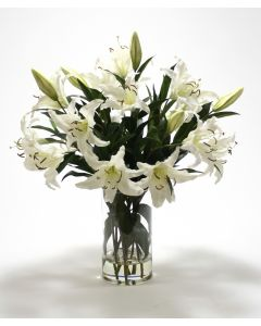 Waterlook® Casablanca Lilies in Glass Cylinder