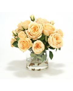 Waterlook® Yellow Roses in Glass Cylinder