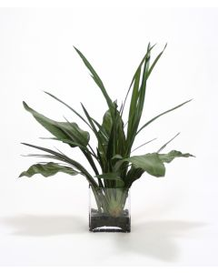 Waterlook® Tropical Foliage in Rectangle Glass