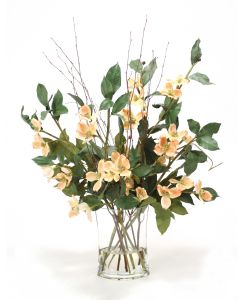 Waterlook® Dogwood Branches in Glass Vase