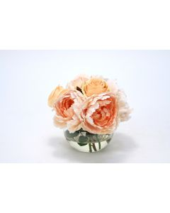 Waterlook® Champagne Roses in Rose Bowl