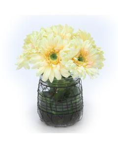 Gerber Daisy in Ball Wire Jar