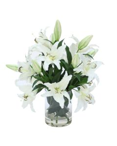 Casablanca Lilies in Glass