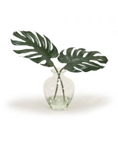 Philodendron Leaf in Glass