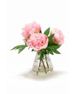 Pink Peonies in Tear Drop Vase