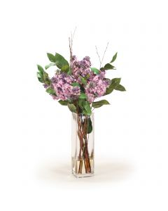 Lilac in Tall Rectangular Glass