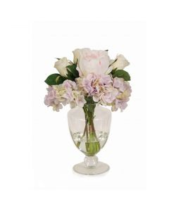 Lavender Hydrangea with Roses and Peonies