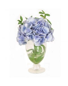 Hydrangea in Small Glass Urn