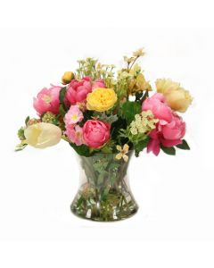 Mixed Spring Florals with Tulips and Peonies
