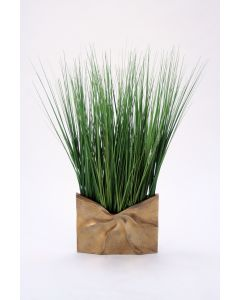 Grass in Gold Ritz Metal Envelope Vase