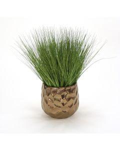 Grass in Medium Burnt Gold Gabi Planter