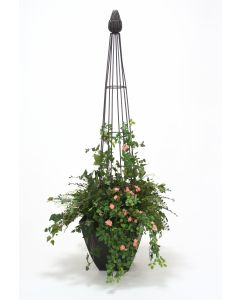 Topiary Form Garden in Metal Planter