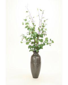 Elm Plant in Pewter Vase