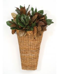 Pine and Magnolia Mix in Arrorog Wall Basket