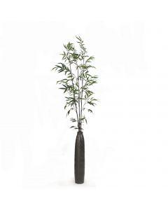 Black Bamboo in Pewter Vase