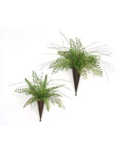 Maiden Hair Fern, Grass Cones (2 Pc Set)