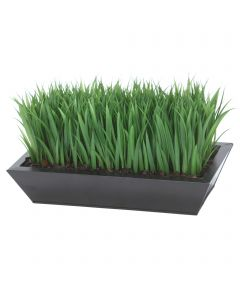 Grass Blades in Metal Tray