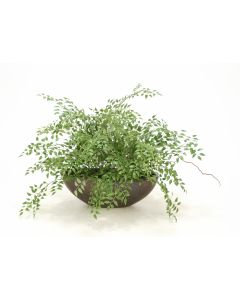 Smilax and Willow Foliage in Large Bronze Planter