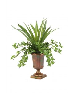 Ivy and Grass in Classic Urn
