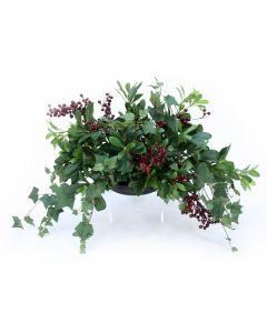 Mountain Ivy and Pittosporum Greenery Topper