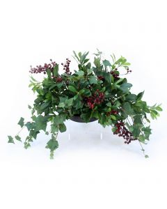 Mountain Ivy and Pittosporum Greenery Topper