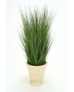 Varicolored Grass Mix in Pale Celadon Northampton Floor Urn