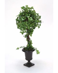 Mini Ivy Topiary in A Small Bronze Urn