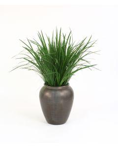 Grasses in Bronze Egg Pot