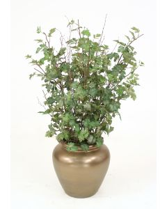 Danica Branches in Bronze Round Planter