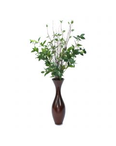 Laurel Foliage and Branches in Wood Vase