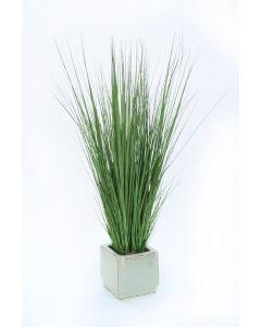 Mixed Grass In Beige Glazed Stoneware