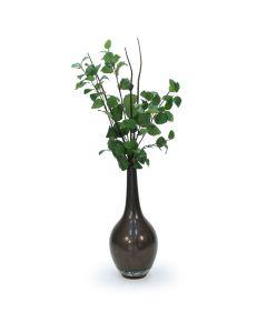 Elm Branch in Tall Gun Metal Vase