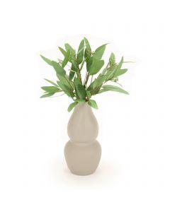 Eucalyptus in Grey Vase