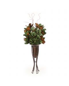 Magnolia in Vase with Plant Stand