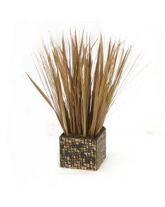 Natural Grasses in Black and Bamboo Box