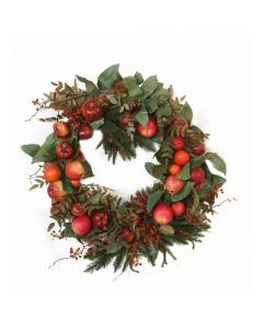 Fall Apple Wreath