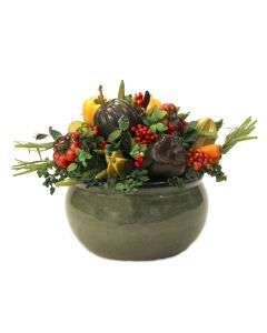 Mixed Vegetable in Green Garden Pot