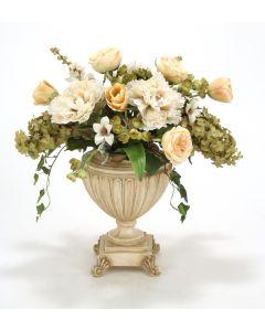 Peonies, Roses, Hydrangeas in Urn