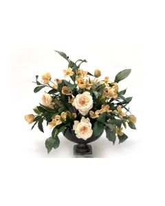 Pastel Peach, Champagnemix in Dark Pewter Hampton Urn