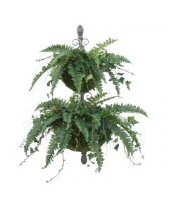 Double Wall Hanger with  Fern and Ivy