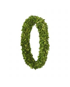 "24"" Preserved Boxwood Oval Wreath"