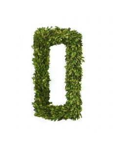 "24"" Preserved Boxwood Rectangle Wreath"
