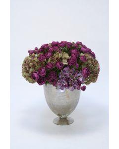 Purple Hydrangeas in Embrace Vase