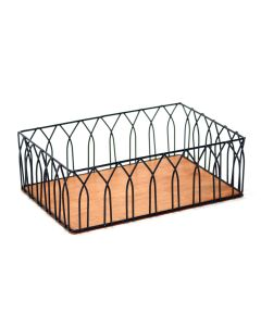 Wire Rect Basket with Wood Bottom without Handles