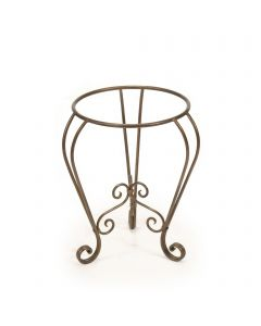 Queen Anne Plant Stand Glazed Bronze